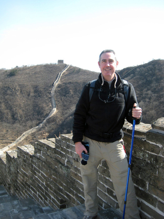 Sean Connell at The Great Wall of China